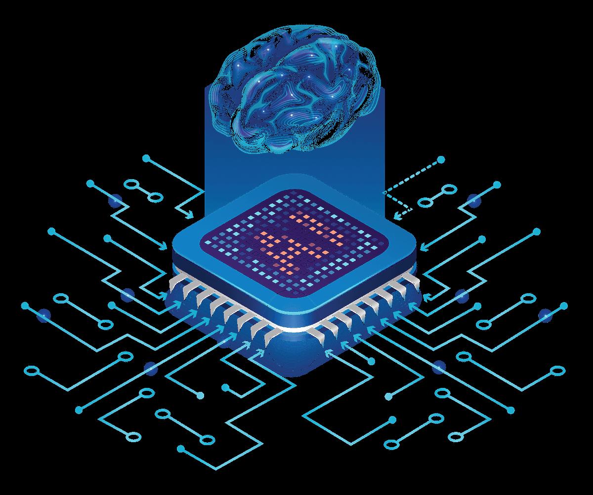 Brain microchip graphic SYN-RG-Ai Platform